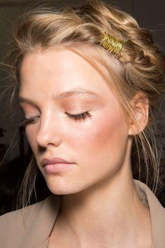 rosy cheeks + long eyelashes