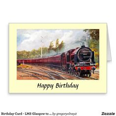 Birthday Card - LMS Glasgow to Manchester Express
