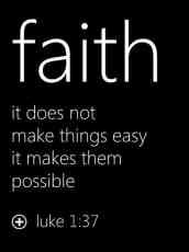 Faith  it does not makes