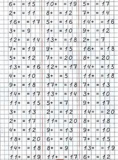 Number Worksheets Kindergarten, Math Activities, Russian Language Lessons, Math Websites, Niklas, Math Sheets, Study Skills, Homeschool Math, Math Facts