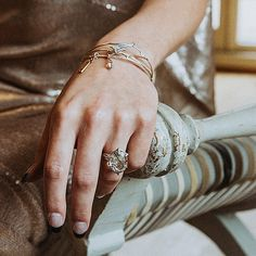 And this duo!...  My 'Two for Joy' Bespoke Bangle and Tourmalated Quartz Nest Ring... What an elegant statement these two beauties make... I am truly in love ♥  .  .  Photography: Oxana Mazur @oxiphotography @oxana.mazur.fineartphoto   Model: Natasha Chick @natashachickmodel   MUA: Claire Hanson @mach_management   Dress: @mishi.may
