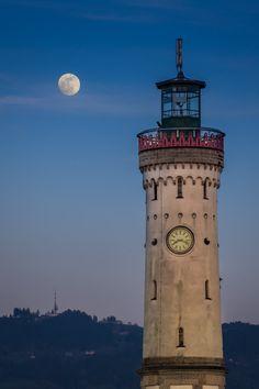 Lindau Lighthouse, Lake Constance, Germany