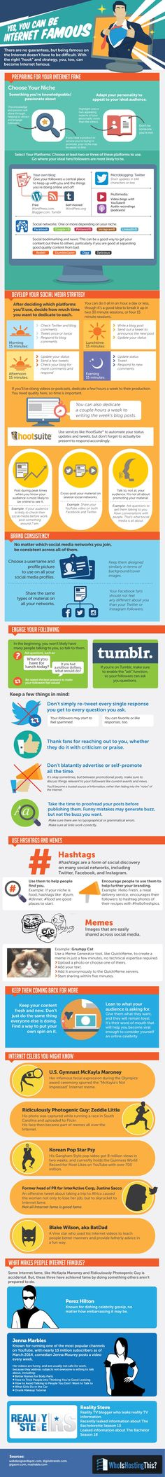 Yes, You Can Be Internet Famous - #Infographic #socialmedia #personalbranding