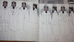 Fashion Sketchbook - developing a collection; fashion drawings
