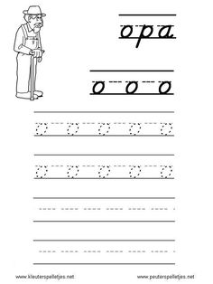 LETTER O   letters leren herkennen en schrijven, alfabet printbladen a t/m z