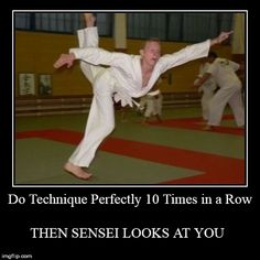 *then sensei looks at you* but still this is so accurate. Even though I've never done a technique perfectly yet. Martial Arts Humor, Martial Arts Quotes, Martial Arts Workout, Boxing Workout, Workout Humor, Taekwondo Quotes, Karate Quotes, Ata Taekwondo, Taekwondo Girl