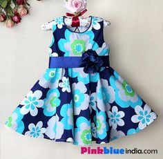 Floral Print Baby Frock, adorable baby dress, baby sleeve dress, kids casual outfits, princess party dress, infant formal dress, baby summer dress, 1st birthday dress for your little daughter, ribbon belt bow