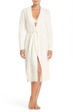 Nordstrom Cable Sweater Robe available at #Nordstrom