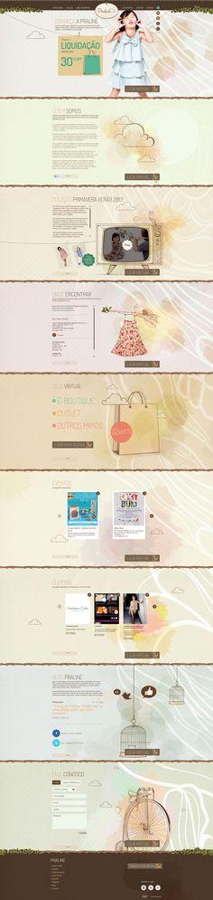 Unique Web Design, Petit Praline #WebDesign #Design (http://www.pinterest.com/aldenchong/)
