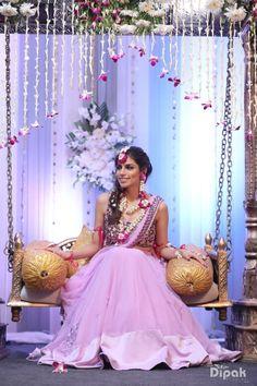 Mehandi - The Mesmerizing Bride! Photos, Hindu Culture, Beige Color, Decoration, Mangtika, Flower Jewellery pictures, images, vendor credits - Orana Hotels and Resorts, WeddingPlz
