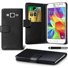 From 4.99:Samsung Galaxy S6 Case Premium Quality Leather Wallet Case Cover Comes With Galaxy S6 Screen Protector / Galaxy S6 Case (black)