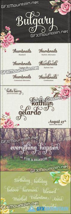 Bulgary Font Family - 2 Fonts for $15