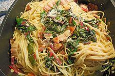 Mangold - Tomaten - Senf - Sahne - Tagliatelle