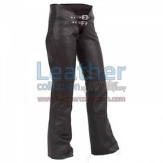 DOUBLE BELTED LADIES LEATHER CHAPS for $108.80 - https://www.leathercollection.com/en-we/double-belted-ladies-leather-chaps.html