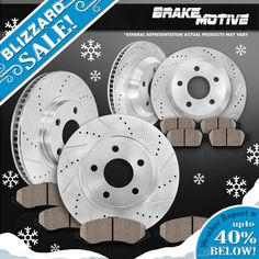 Nice amazing toyota rav4 oem rear brake pad kit 2006 17 2018 awesome amazing frontrear brake rotors ceramic pads 2005 2006 2007 2008 2009 2010 honda fandeluxe Choice Image