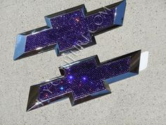 ICY-Couture.com. Chevy Bowtie emblems bedazzled in Purple sparkling Swarovski Crystals. Whats Your Color?