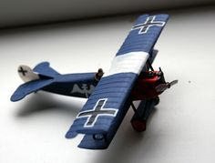 "Fokker D VII 1:72 lovingly nicknamed ""The Flying Facebook""."
