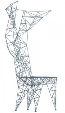 Design Tom Dixon, 1992 Steel wire, natural aluminum, black felt feet pads Made in Italy by Cappellini
