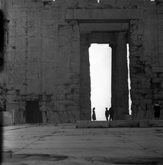 athens, greece may 1959 Parthenon, Acropolis, Ancient Ruins, Modern City, Photo Archive, Athens Greece, Scene, Europe, Black And White