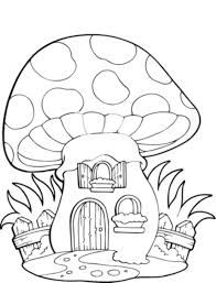 mushroom house drawing - Google Search