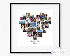 Anniversary Gift Ideas For Him Discover Family Heart Storyboard 25 Image Collage Photographer Template Customizable Photo Collage