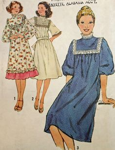 Vintage 1970s Sewing Pattern Simplicity 8415 Misses'
