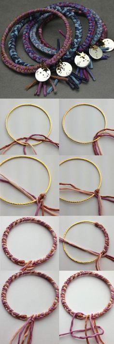 bracelet a faire soi meme en métal et fin coloré