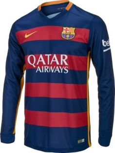 2015/16 Nike FC Barcelona L/S Home Jersey. Grab it at www.soccerpro.com