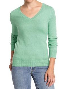 Women's V-Neck Softest Sweaters | Old Navy  size xsmall, please. In green goddess, coral tropics, fresh lilac. light heather gray.