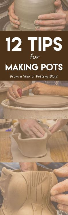 12 Tips for Making Pots - Pottery Making Info Hand Built Pottery, Slab Pottery, Ceramic Pottery, Pottery Art, Pottery Mugs, Pottery Lessons, Pottery Classes, Beginner Pottery, Sculptures Céramiques