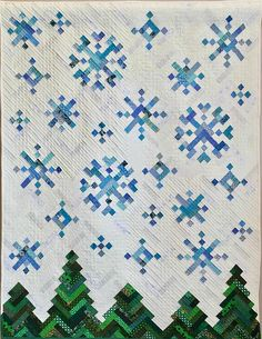 PDF Quilt Pattern -- Digital Pattern for New Slant on Snowflakes quilt; holiday quilt Want to buy by july Snowflake Quilt, Snowflakes, Herringbone Quilt, Christmas Quilt Patterns, Christmas Quilting Projects, Christmas Sewing, Christmas Fabric, History Of Quilting, Winter Quilts