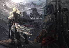 I am back, Altair. This is the illustration for the Assassin's Creed fan fiction: THE ROAD OF OBLIVION written by . the Road of Oblivion 03 Cry Of Fear, Connor Kenway, All Assassin's Creed, Assassins Creed Unity, Ac2, Ancient Artifacts, Pictures, Oblivion, Image