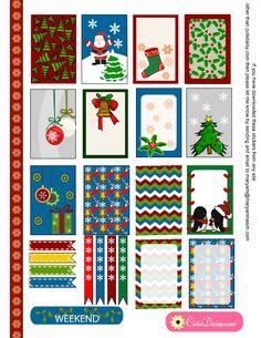 Algunas bonitas y prácticas etiquetas de Navidad  Les podéis dar múltiples usos   Enlace:   http://cutedaisy.com/free-printable-christmas-st...