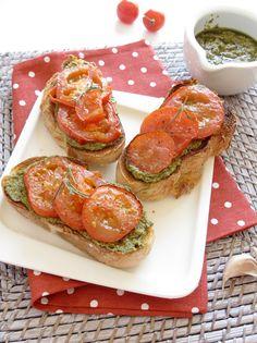 bruschettas de tomate