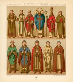 middle ages clothing | Europe Middle Ages - Priest's Clothing - PRINTS