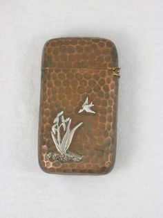 Antique Gorham Silver & Copper Mixed Metal Hand Hammered Match Safe Circa 1883 in Antiques   eBay