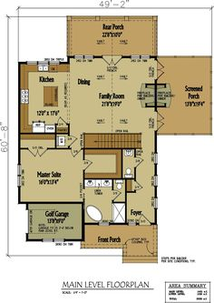 I like this 1st floor plan but I would make a few changes. I wouldn't want it to be 1400 sq ft and I don't like the long hallway once you walk in....maybe have a small room to the right for receiving guest that aren't coming into the house.  blowing-rock-cottage-main-level-floor-plan