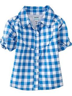 Gingham Bib-Yoke Shirts for Baby | Old Navy