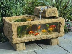 All Seasons Sea Chest Aquarium - Outdoor fish tank pond. ~ - 22 Small Garden or Backyard Aquarium Ideas Will Blow Your Mind Aquarium Design, Big Aquarium, Aquarium Garden, Aquarium Ideas, Outdoor Projects, Garden Projects, Garden Ideas, Apartment Balconies, Fish Ponds