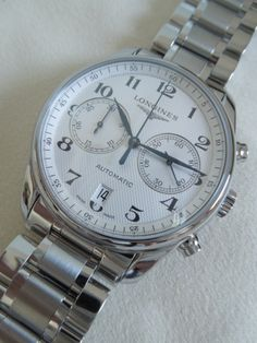 WATCH LONGINES MASTER COLLECTION AUTOMATIC SILVER CHRONOGRAPH 40mm L2.629.4.78.6