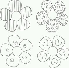 DIY Flower Tutorials You Must Try is part of Flower crafts Projects - Learn how to make amazing DIY flowers with this roundup of handmade flower tutorials Learn how to make paper flowers, fabric flowers and much more! Applique Templates, Templates Printable Free, Applique Patterns, Flower Patterns, Printables, Flower Applique, Owl Templates, Felt Patterns, Applique Ideas