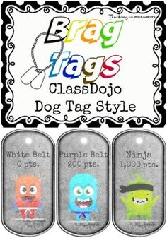Use brag tags as an incentive for advancing to the next belt degree!Add your tags to a necklace or a metal beaded key chain.*Checkout my matching ClassDojo Karate Belt documents:Belt Advancement Chart:https://www.teacherspayteachers.com/Product/ClassDojo-Avatars-with-Karate-Belts-2016553Take-Home Tracker:https://www.teacherspayteachers.com/Product/Class-Dojo-Tracker-2023895Cutesy Matching Brag Tags: