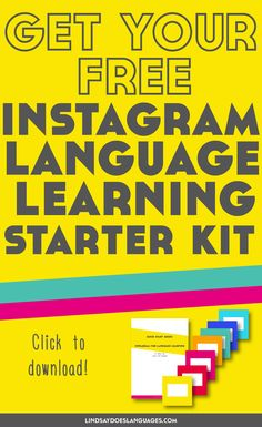 Ready to start learning languages on Instagram? Click through to download your free Instagram Language Learning Starter Kit! >>