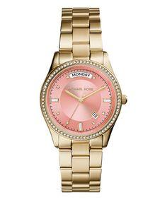 Loving this Goldtone Colette Bracelet Watch on #zulily! #zulilyfinds