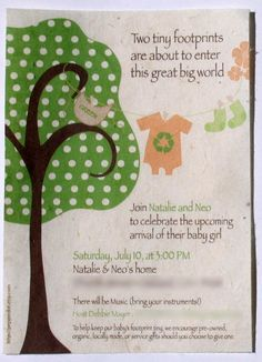 Baby Shower Invitations with tree-Eco Friendly Plantable Paper