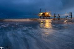 Trabocco at the blue hour by Alberto Paolucci