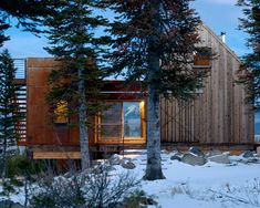 I'm not sure where to pin this...it is stunning in the simplicity of the design.  Old wood, corrugated tin.  Look between the two structures at the Montana mountains in the background!  Intrinsic Architects, Bozeman, Montana