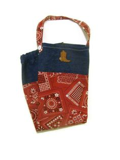 Fabric Plastic Bag HolderGrocery Bag Holder Red by bagsbyhags45, $9.75
