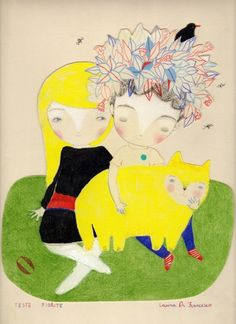 Laura Di Francesco... wonderful colors, and funny cat