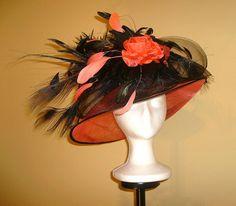 Kentucky Derby Hat Award Winning Design in by ChamberryCherry Sinamay Hats, Fascinator, Headpiece, Fancy Hats, Cool Hats, Derby Time, Church Hats, Kentucky Derby Hats, Love Hat